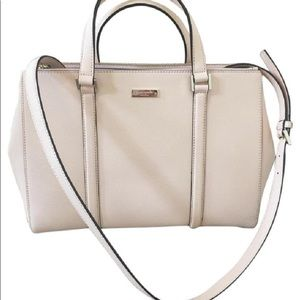 Kate Spade Newbury Lane Satchel in Cream